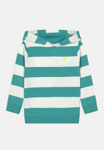 STRIPE HOODIE - Sweatshirt - rich aqua