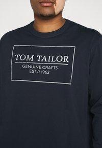 TOM TAILOR MEN PLUS - Long sleeved top - dark blue - 5