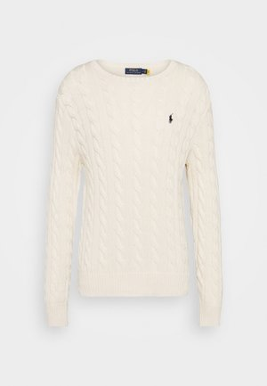 CABLE - Strickpullover - andover cream