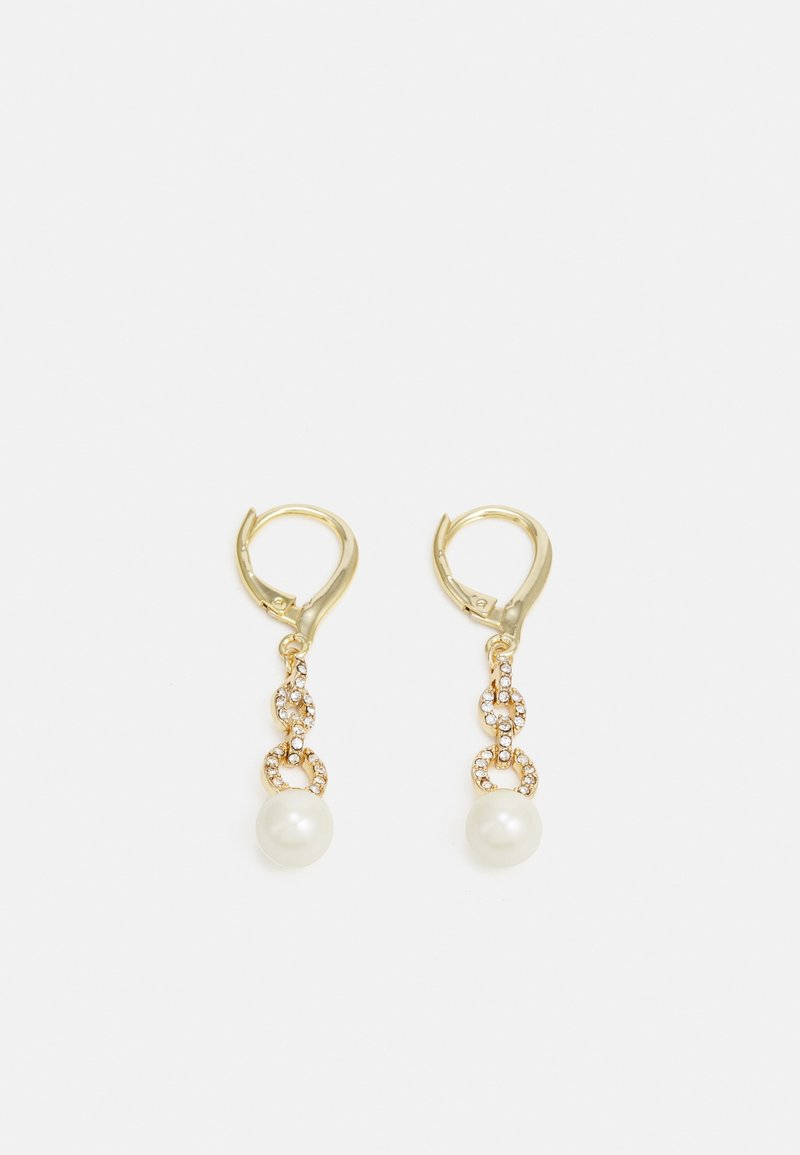 Lauren Ralph Lauren - PE PEARL DROP - Earrings - gold/white pearl