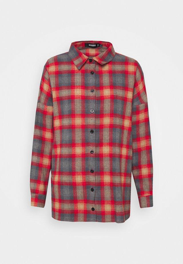 PLAID SHIRT - Button-down blouse - multi