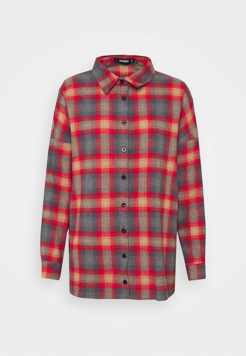 Missguided - PLAID SHIRT - Button-down blouse - multi