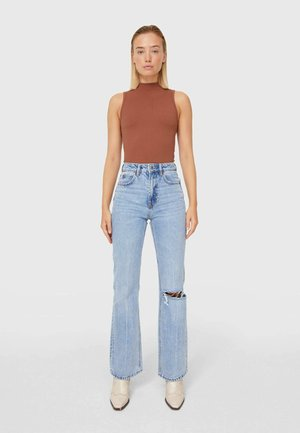 Straight leg jeans - moon washed