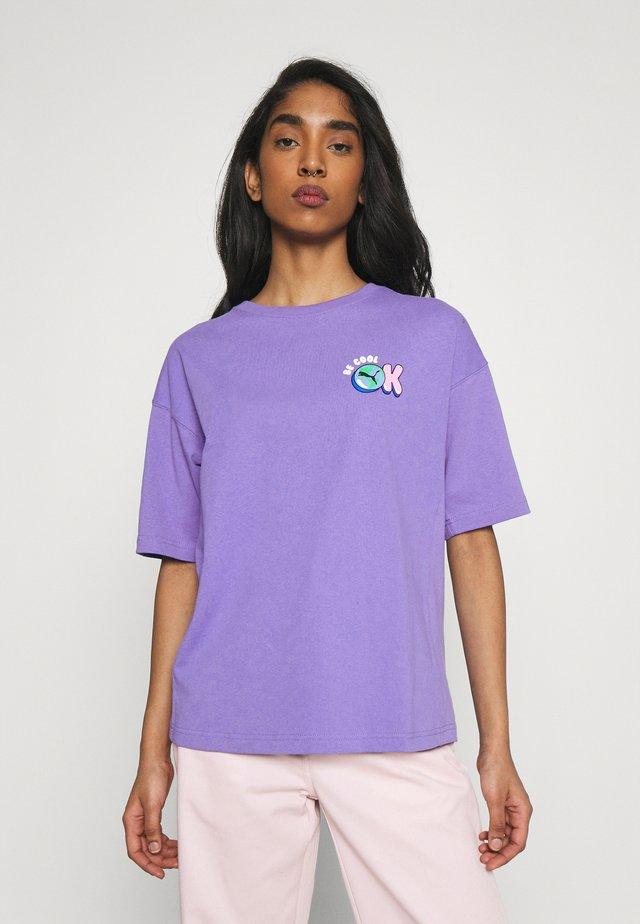 DOWNTOWN GRAPHIC - Print T-shirt - hazy blue