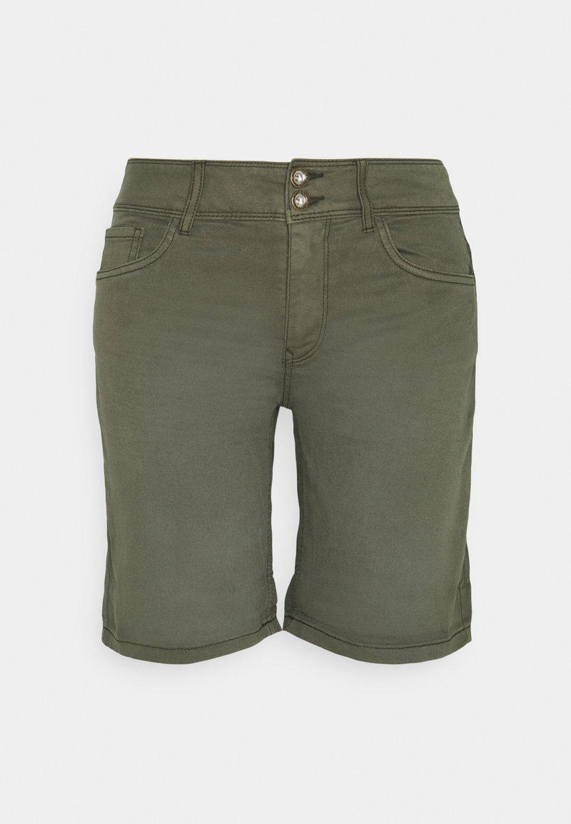 TOM TAILOR - ALEXA BERMUDA - Shorts - grape leaf green