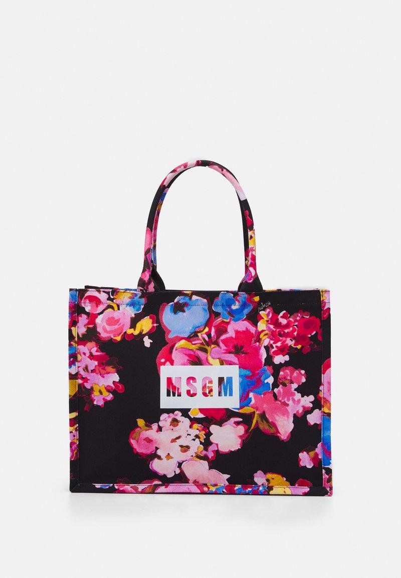 MSGM - BORSA DONNA WOMANS - Tote bag - black/multicolor