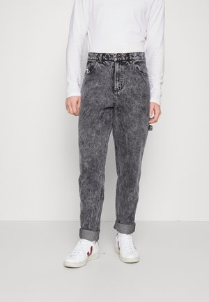 RETRO MOON PANTS - Džíny Relaxed Fit - dark grey
