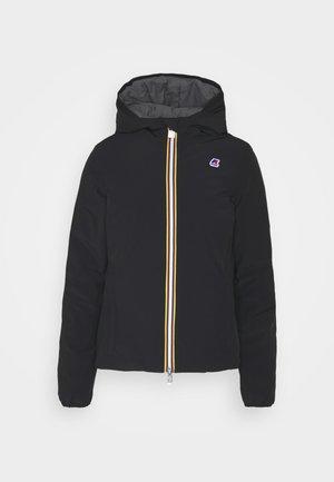 WARM DOUBLE - Winter jacket - black/grey