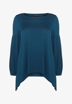 HANKY HEM - Long sleeved top - blue grey