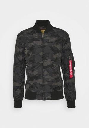 CAMO - Bomber Jacket - black