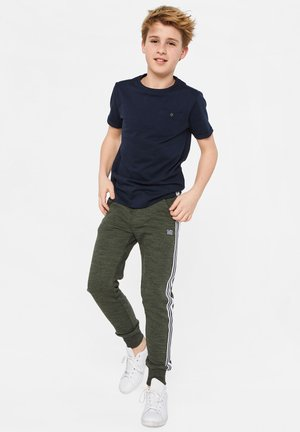 WE FASHION JONGENS JOGGINGBROEK MET TAPEDETAIL - Pantalon de survêtement - army green