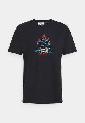 BETTER DAYS TEE UNISEX - Print T-shirt - black