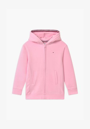 HERITAGE LOGO ZIP THROUGH - Mikina na zip - pink