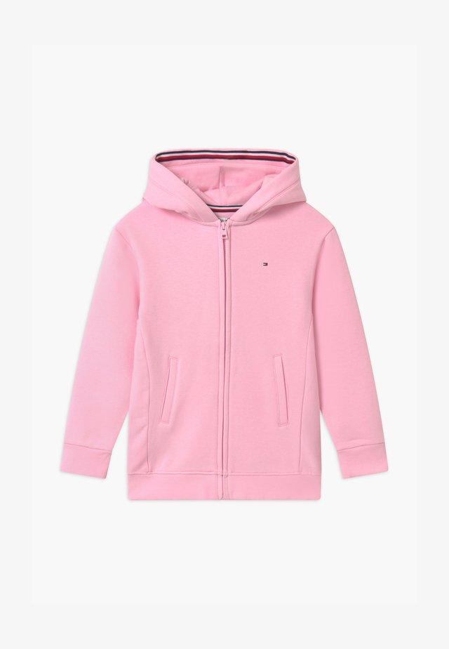 HERITAGE LOGO ZIP THROUGH - veste en sweat zippée - pink