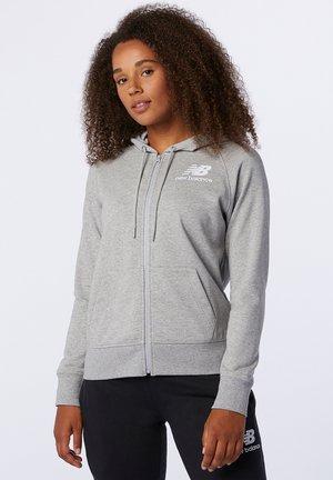 ESSENTIALS - Zip-up hoodie - athletic grey