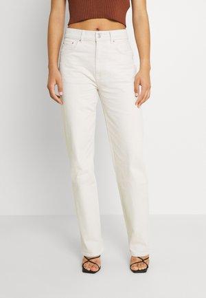 90S HIGH WAIST - Straight leg jeans - raw white
