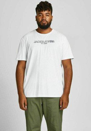 JJBANK TEE CREW NECK  - T-shirt print - white