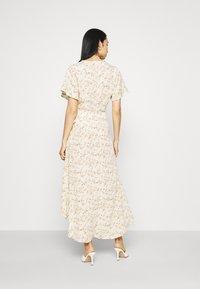 Missguided - FLORAL MIDAXI WRAP TIE WAIST DRESS - Maxi dress - cream - 2