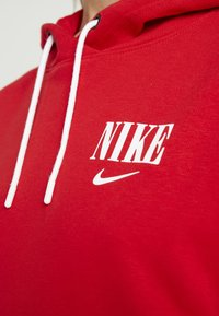 Nike Sportswear - HOODIE - Hoodie - black/university red