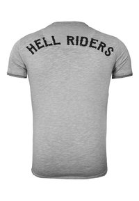 Key Largo - HELL RIDERS - Print T-shirt - silver - 1