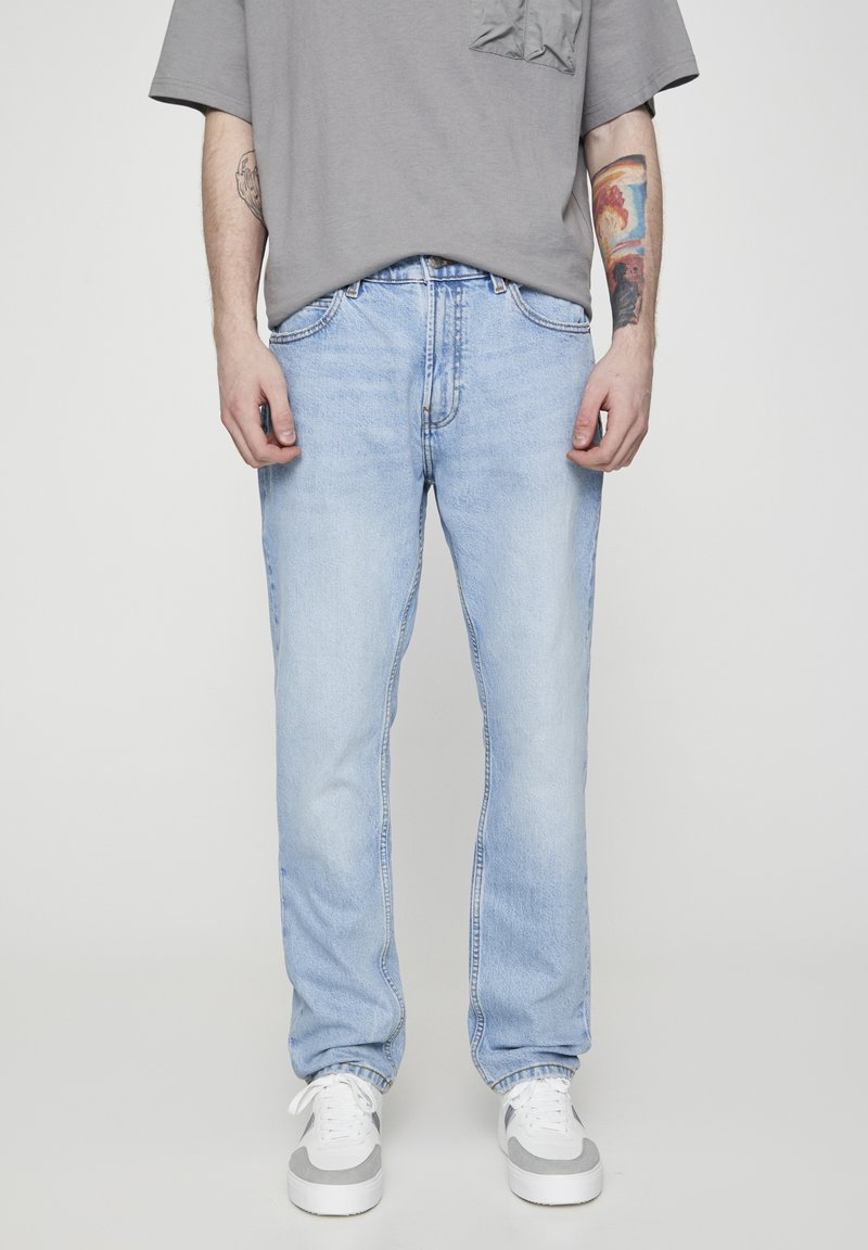PULL&BEAR - Slim fit jeans - light blue