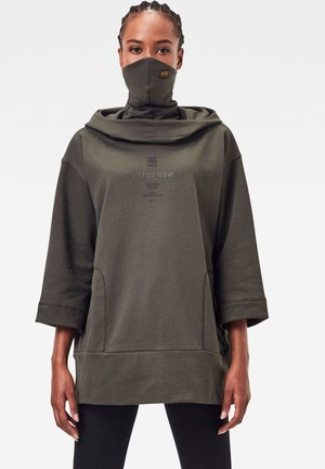 OVERSIZED HOOD COVER - Sweat à capuche - asfalt