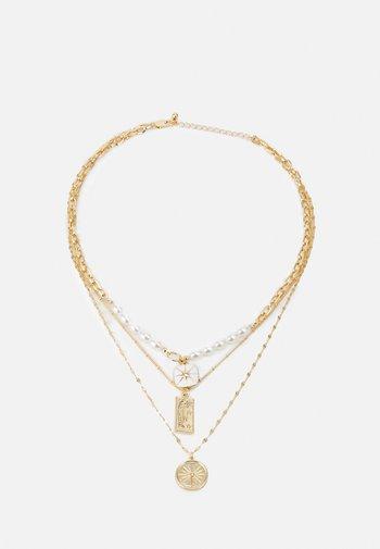 PCLILJE COMBI NECKLACE - Necklace - gold coloured