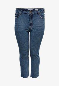 ONLY Carmakoma - CURVY  - Slim fit jeans - dark blue denim - 3