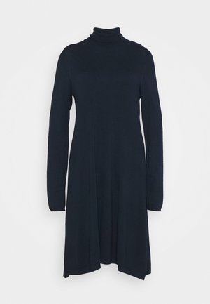 VMGLORY ROLLNECK DRESS - Jumper dress - navy blazer