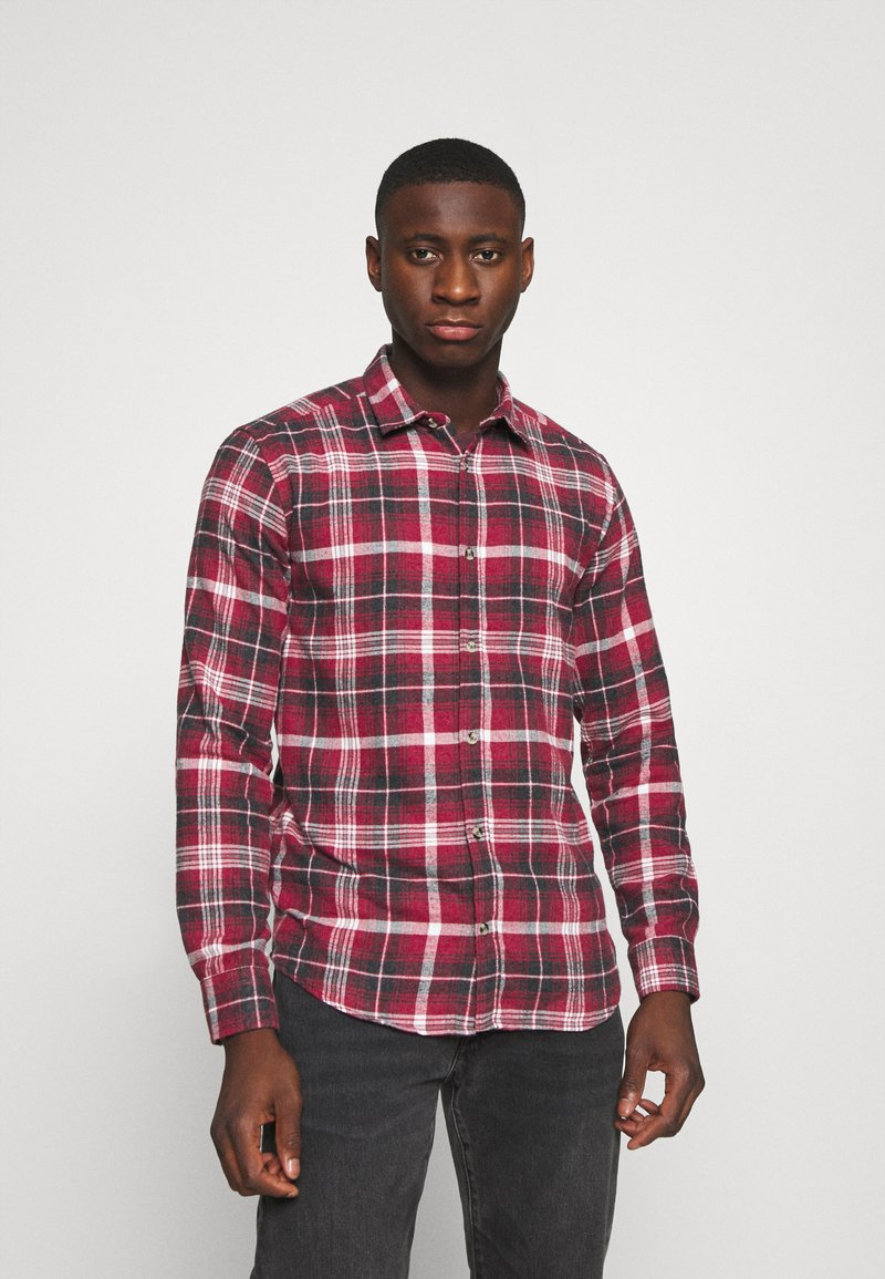 Only & Sons - ONSBOBBY WASHED CHECK - Skjorta - sun dried tomato