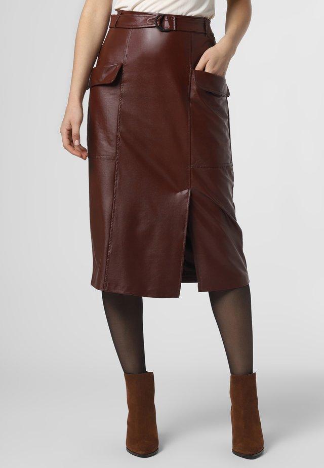 A-line skirt - kastanie