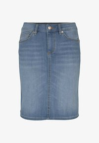 TOM TAILOR - Pencil skirt - used light stone blue denim - 0