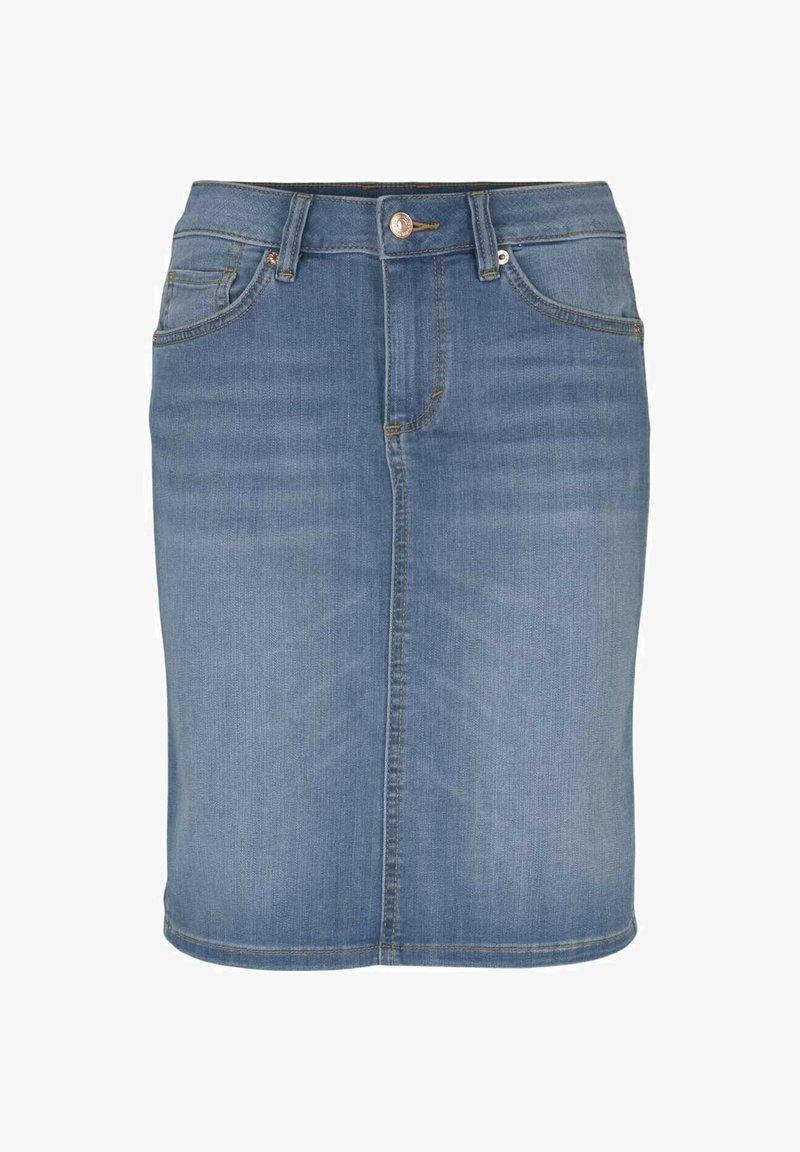 TOM TAILOR - Pencil skirt - used light stone blue denim
