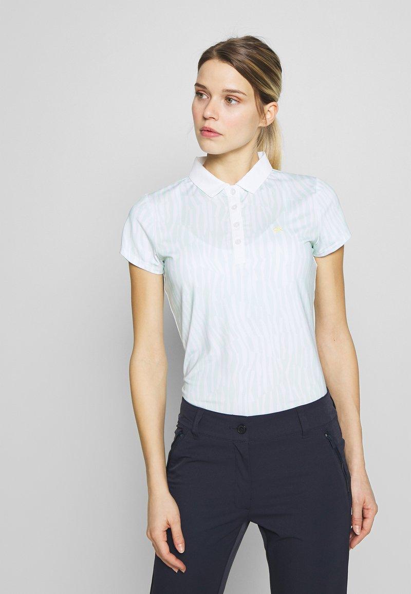 Calvin Klein Golf - SUNRAY  - Polo shirt - aqua/white