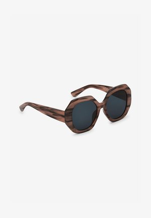HORN EFFECT HEXAGON - Sunglasses - brown