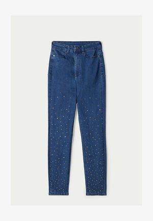 MIT NIETEN IN STERNFORM - Jeans Skinny Fit - blu jeans