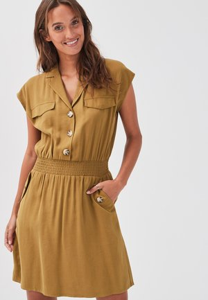 Shirt dress - olive green
