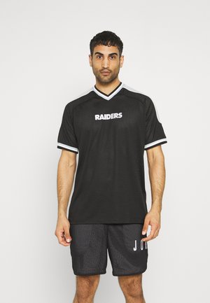 LAS VEGAS RAIDERS NFL CONTRAST PANEL - Print T-shirt - black