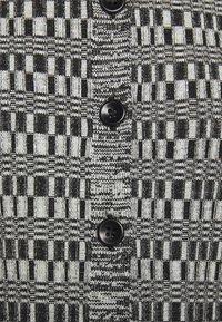 Proenza Schouler White Label - MINI GEO CARDIGAN - Cardigan - black/pale yellow - 6