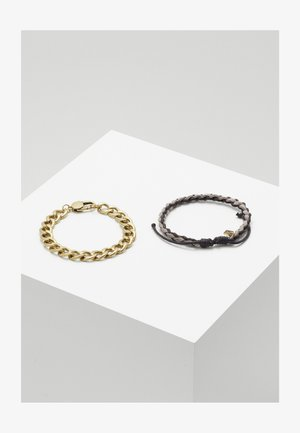 TOTUM MIXED WRISTWEAR WITH CHAIN ROW 2 PACK - Bracelet - brown