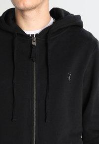 AllSaints - RAVEN - Zip-up hoodie - black - 3