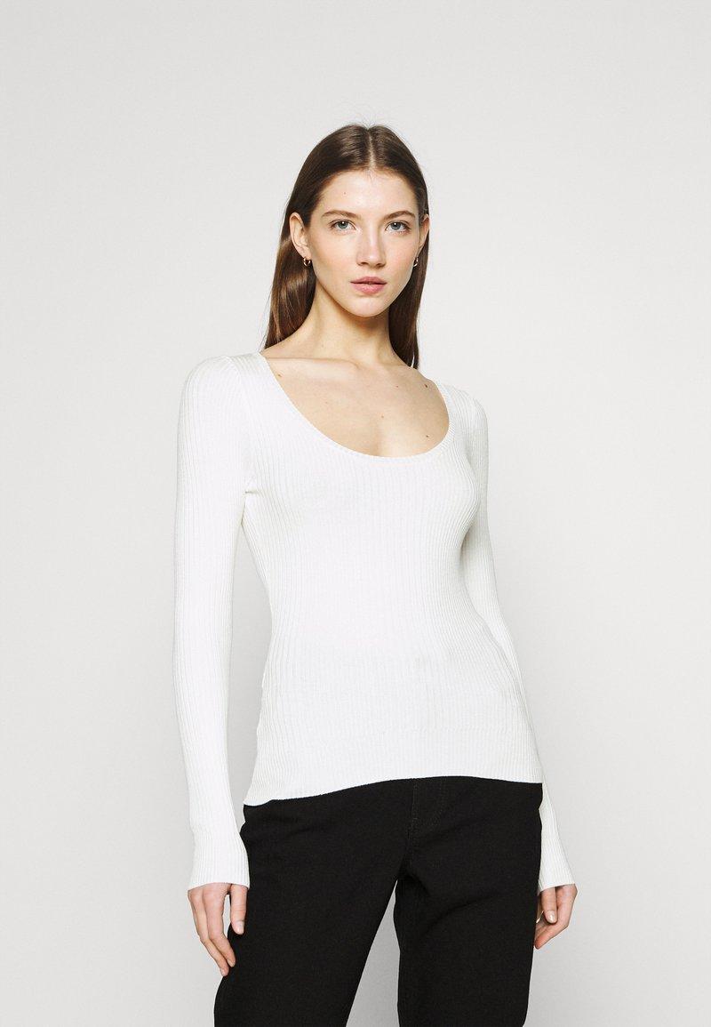 Even&Odd - Strikkegenser - off-white