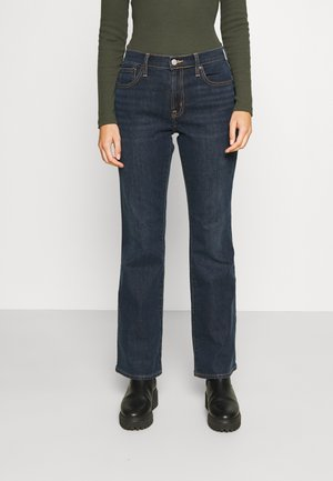 V BOOT PEARL - Bootcut jeans - dark rinse