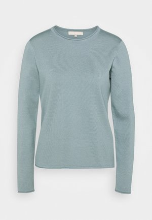 SRMarla O Neck Roll Edge - Jumper - smoke blue