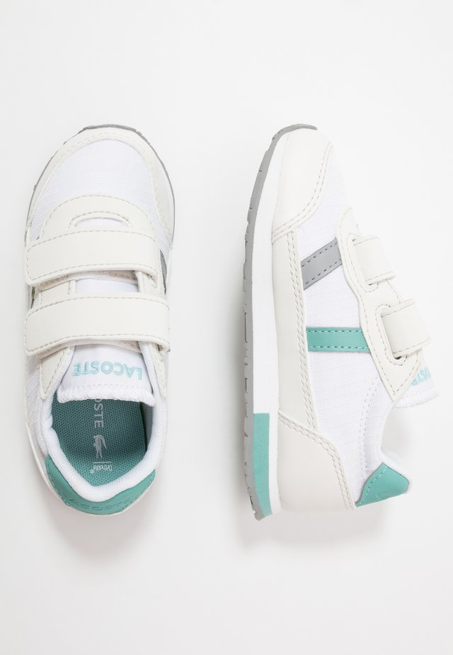 PARTNER  - Baskets basses - white/turquoise