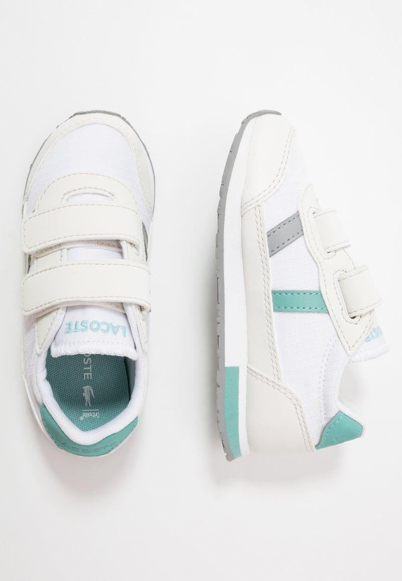 Lacoste - PARTNER  - Baskets basses - white/turquoise