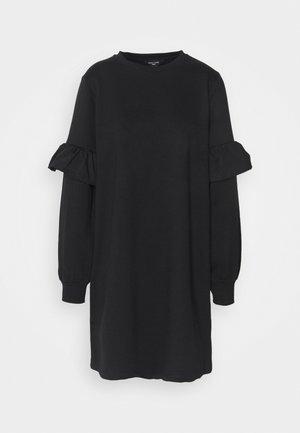 FRILL MINI - Korte jurk - black