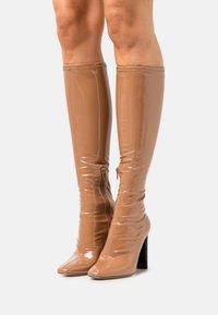 ALDO - EDIGORWEN - Stivali con i tacchi - dark beige - 0