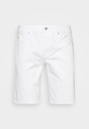 GARMENT DYED COLOURS - Denim shorts - white