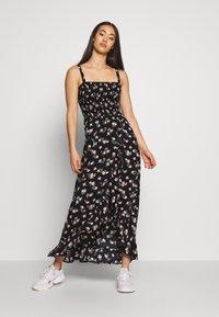 Hollister Co. - STRAPLESS MAXI DRESS  - Maxi dress - black - 0